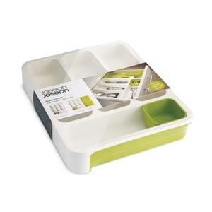 Bielo-zelené priehradky na príbory Joseph Joseph Drawer Store Cutlery