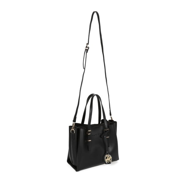 Čierna kabelka z eko kože Beverly Hills Polo Club Alicia