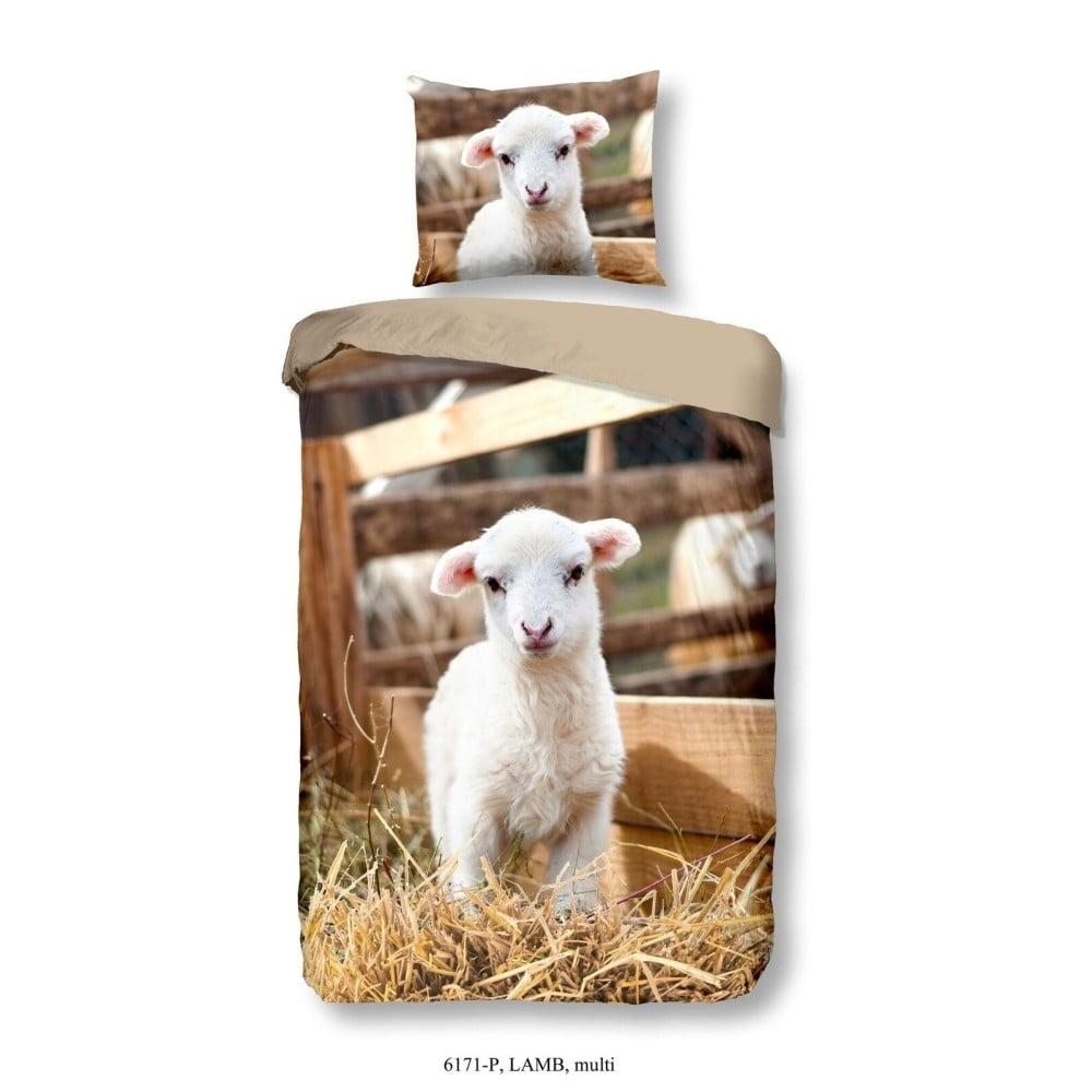 Detské obliečky na jednolôžko z čistej bavlny Muller Textiels Lamb, 140 × 200 cm
