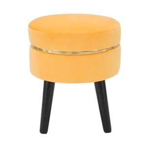 Žltá polstrovaná stolička Mauro Ferretti Paris