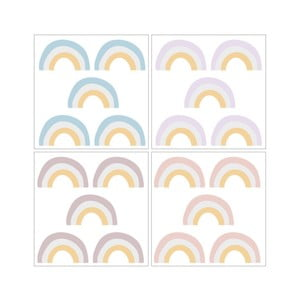 Sada 20 nástenných samolepiek Dekornik Rainbow Light