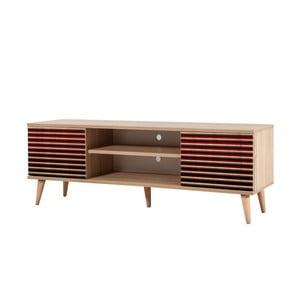 TV stôl Truva Red Classic, šírka 140 cm