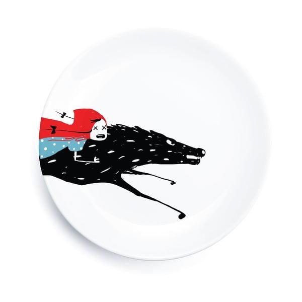 Porcelánový tanier We Love Home Little Red Adventure, 25 cm