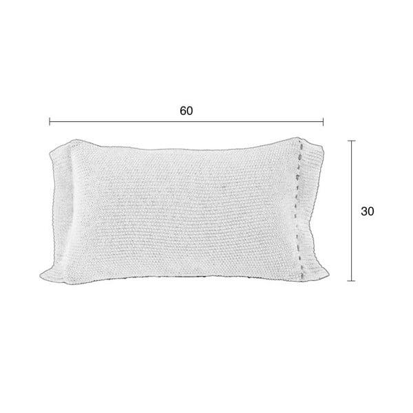 Krémový vankúš Zuiver Aster, 60×30 cm