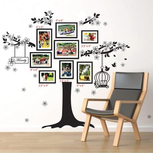 Samolepka na stenu Walplus Strom s rámikmi na fotky