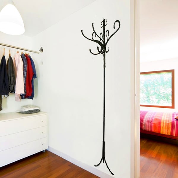 Samolepka na stenu Vešiak s háčikmi