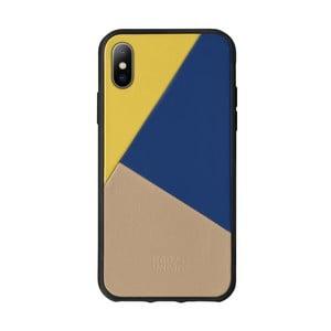 Béžový kožený obal na mobilný telefón pre iPhone 7 a 8 Native Union Clic Marquetry