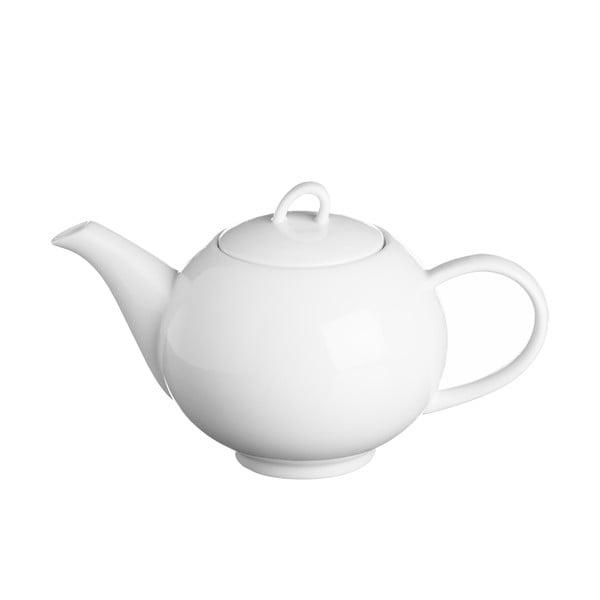 Biela čajová kanvica z porcelánu Price&Kensington Simplicity, 900 ml