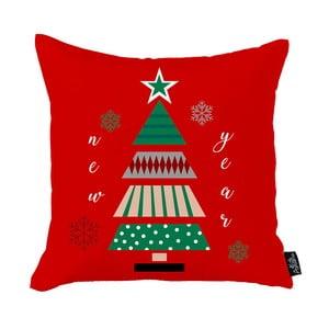 Červená vianočná obliečka na vankúš Apolena Honey Christmas New Year Tree, 45 x 45 cm