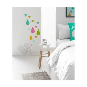 Nástenná nalepovacia dekorácia Pooch Tea Up, 30x42cm