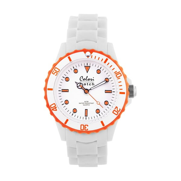 Hodinky Colori 40 White/Orange