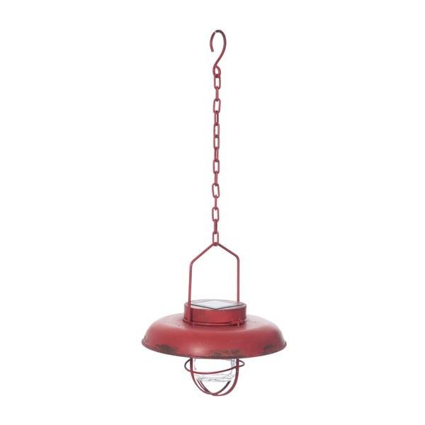 Závesné stropné svetlo Red Lamp so solárnym panelom