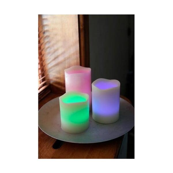 Set troch farebných LED sviečok