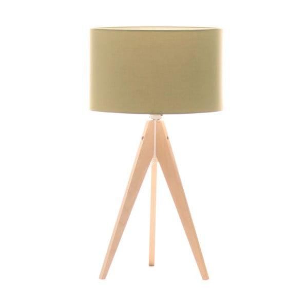 Zelená stolová lampa Artist, breza, Ø 33 cm