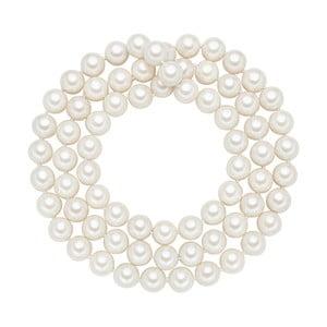 Perlový náhrdelník Muschel, biele perly 12 mm, dĺžka 90 cm