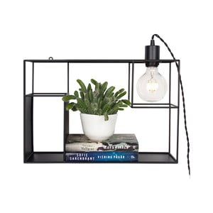 Čierne stolové/nástenné svietidlo Globen Lighting Shelfie