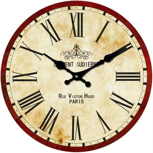 Sklenené hodiny Rue Victor, 30 cm