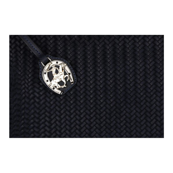 Tmavomodrá kožená kabelka Beverly Hills Polo Club Adriane