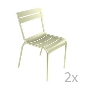 Sada 2 zelenkavých stoličiek Fermob Luxembourg