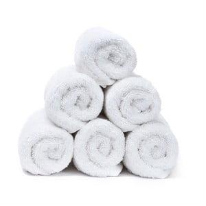 Sada 6 bielych uterákov CasaDiBassi Guest, 30x50cm