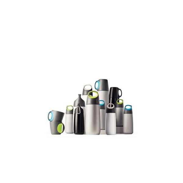 Bielo-sivá fľaša s karabínkou XDDesign Mini Bopp