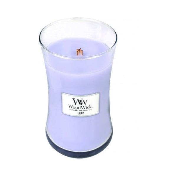 Vonná sviečka WoodWick Lilac Garden, 130 hodín