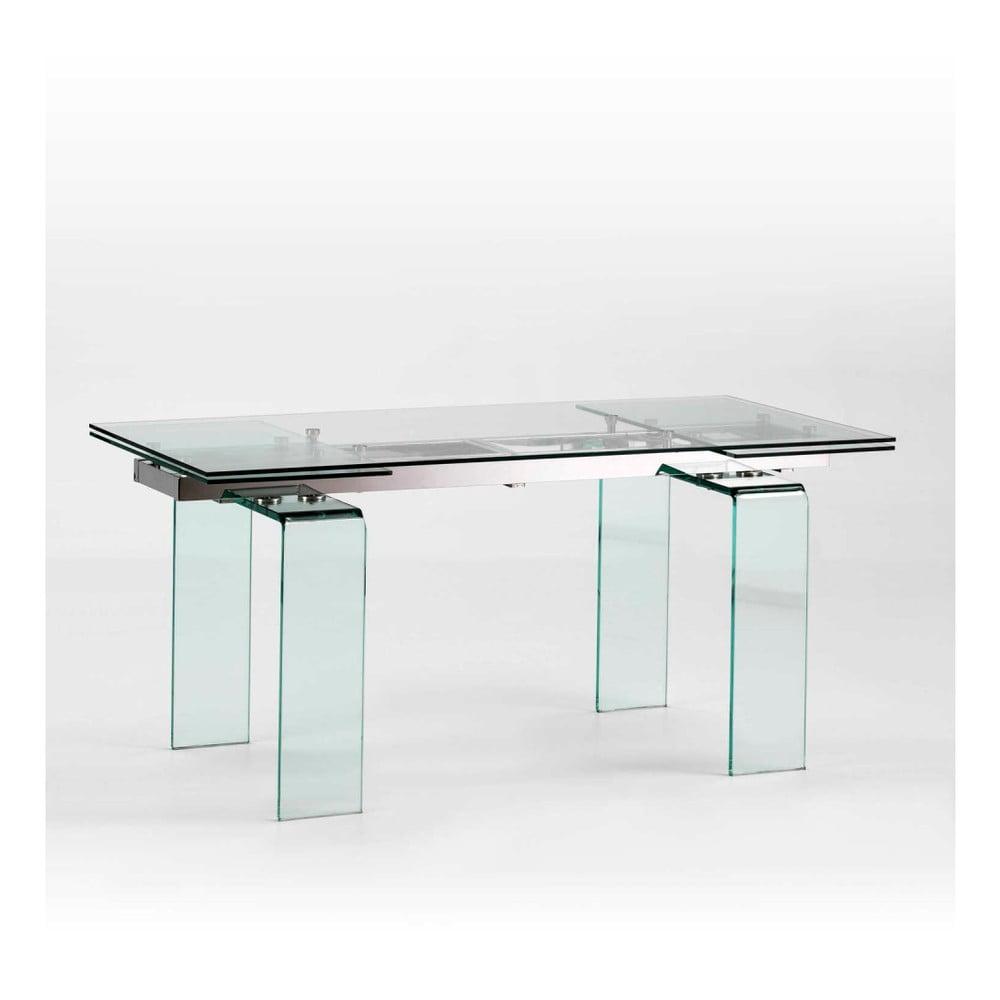 Jedálenský sklenený stôl s možnosťou rozloženia Thai Natura, 240 × 80 cm