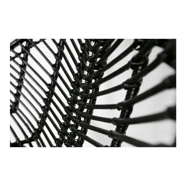 Čierne ratanové kreslo De Eekhoorn April