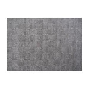Vlnený koberec Luzern, 170x240 cm, sivý