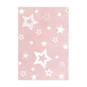 Ružový detský koberec Happy Rugs Satrlight, 100x160cm