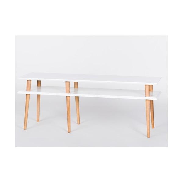 Biely konferenčný stolík Ragaba Mugo,dĺžka139 cm
