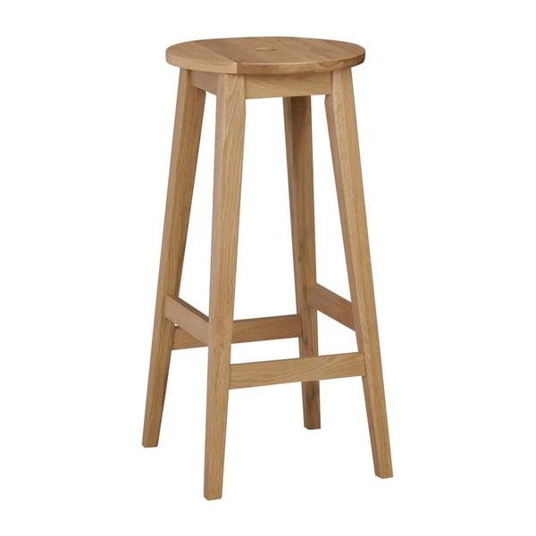 Prírodná dubová stolička Rowico Gorgona, výška 75 cm