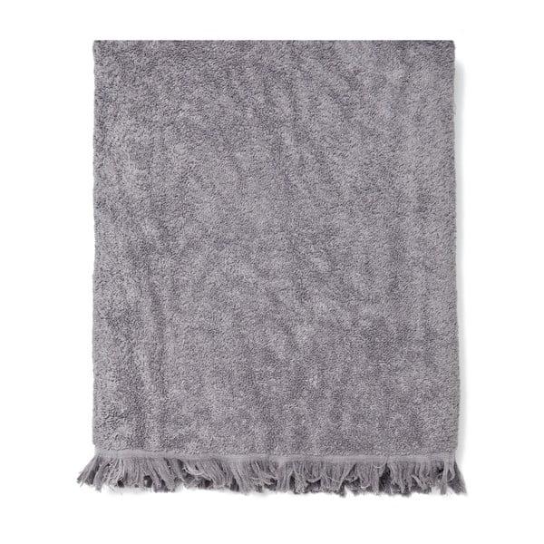 Sada 2 sivých bavlnených osušiek Casa Di Bassi Bath, 100x160cm