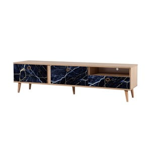TV stôl Stella Blue Marble, šírka 46 cm