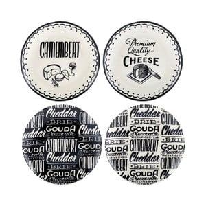 Sada 4 keramických tanierov Creative Tops Cheese