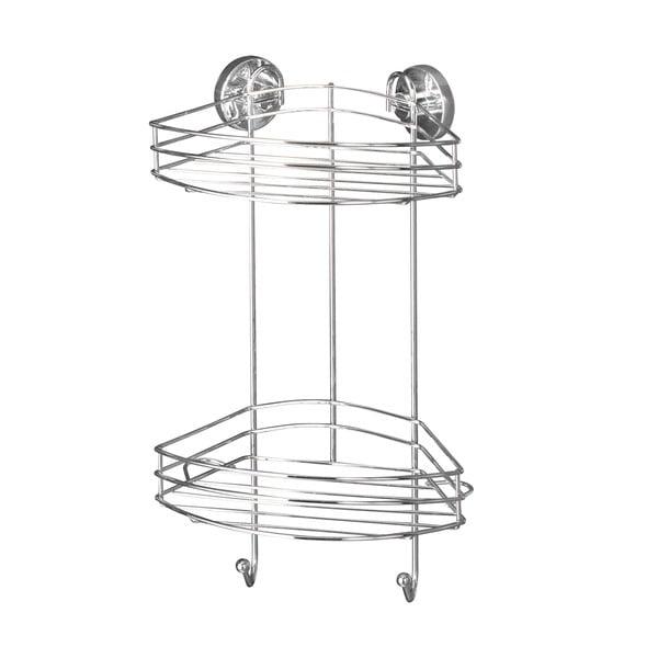 Rohový dvojposchodový stojan bez nutnosti vŕtania Wenko Vacuum-Loc, až33kg