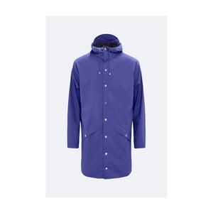 Fialová unisex bunda s vysokou vodeodolnosťou Rains Long Jacket, veľkosť L / XL
