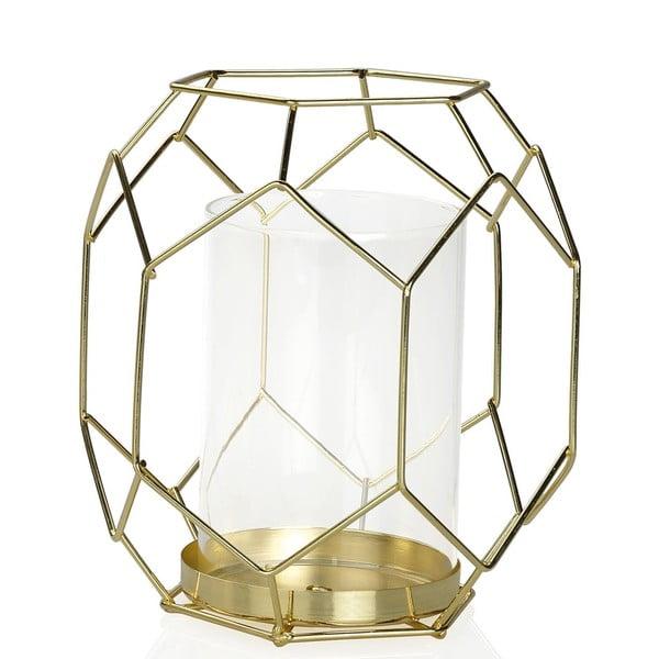 Svietnik Gold Candle, výška 16.5 cm