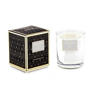 Sviečka v skle s vianočnou vôňou dreva Bahoma London Tichá Noc, 75 hodín horenia