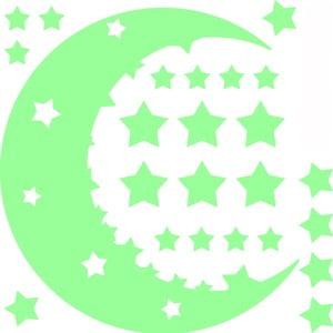 Sada svietiacich samolepiek Ambiance Moon and Stars