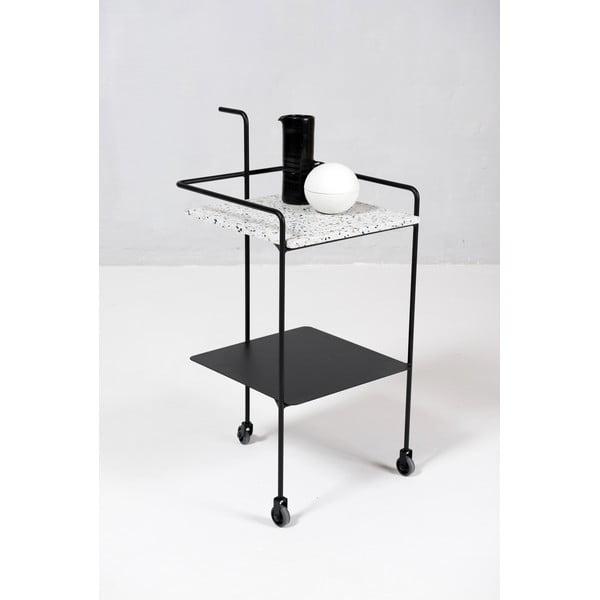 Servírovací stolík Trolley Confetti, biely