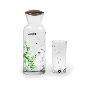Set karafa Floral Green + pohár