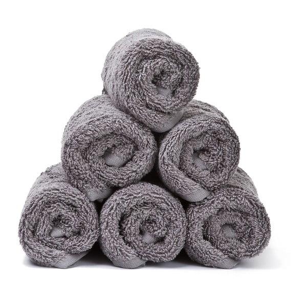 Sada 6 sivých bavlnených uterákov Casa Di Bassi Guest, 30x50cm