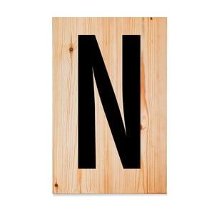 Drevená ceduľa Letters N