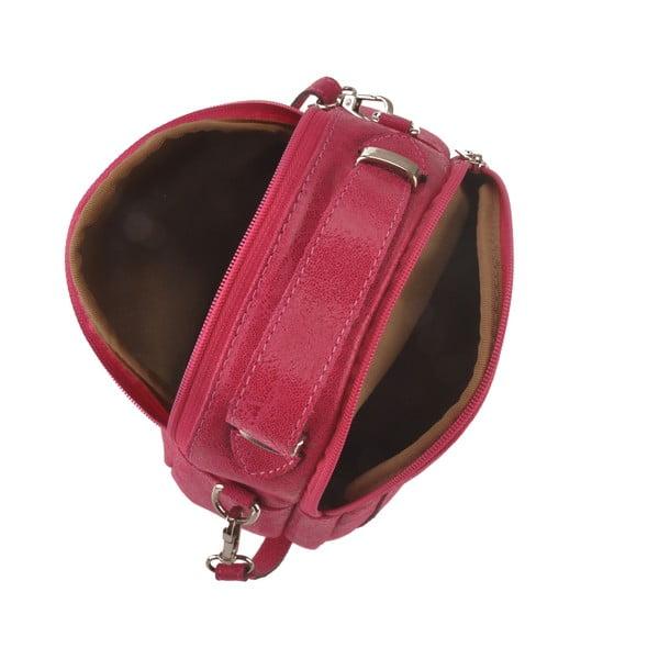 Kožená kabelka Men, ružová