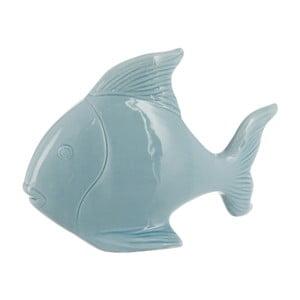 Keramický dekoratívny objekt Fish In Light Blue, 23x16 cm