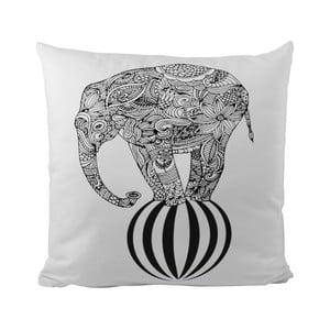 Vankúšik Black Shake Circus Elephant, 50x50 cm