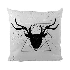 Vankúš Black Shake Geometric Deer, 50x50 cm