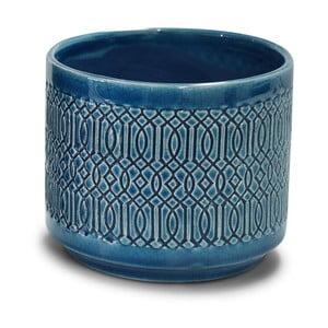 Modrý svietnik Interiörhuset Pot Stina, výška 11,5 cm