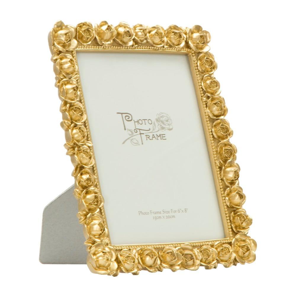 Stolový fotorámik v zlatej farbe Mauro Ferretti Rose, 15 × 20 cm